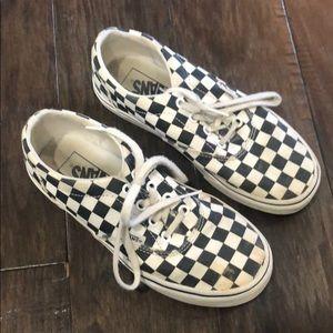 Women's size 6 vans black & white checker tie lace